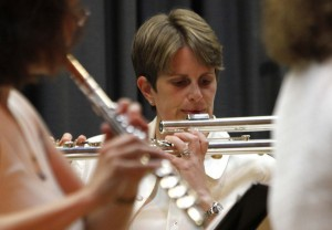 Performing with Northern Westchester Flutes at the Chappaqua Library, 8/3/11. Photo courtesy of Chappaqua Patch.