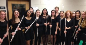 With the Yorktown High School Flute Choir December 2015